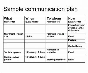 11 samples of communication plan templates sample templates With communication policy template