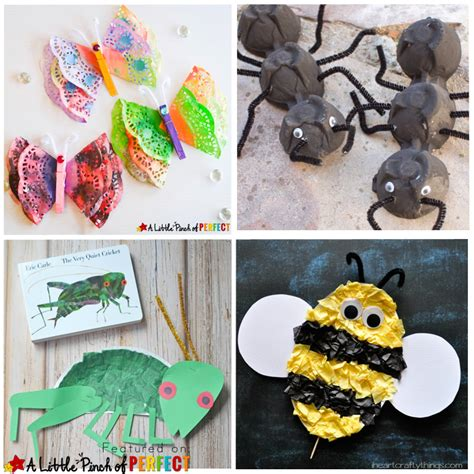 16 creative ways to make bug crafts with 346 | 16 Creative Ways to Make Bug Crafts with Kids A Little Pinch of Perfect 2 copy