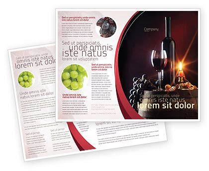 Wine Brochure Template Free by Wine Bottle Brochure Template Design And Layout