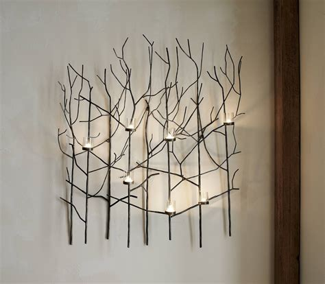 top 20 of metal wall with candles
