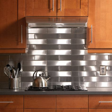 Stainless Steel Kitchen Backsplash  Design Bookmark #14337