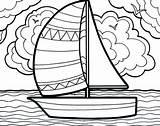 Coloring Sailboat Boat Sailing Summertime Adventure Printable Getcolorings Colorings sketch template