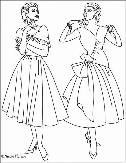 Coloring Pages Fashioned Adults Nicole Sheets Dk