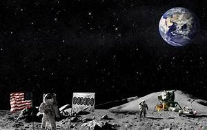 Astronaut On Moon Wallpaper - Pics about space