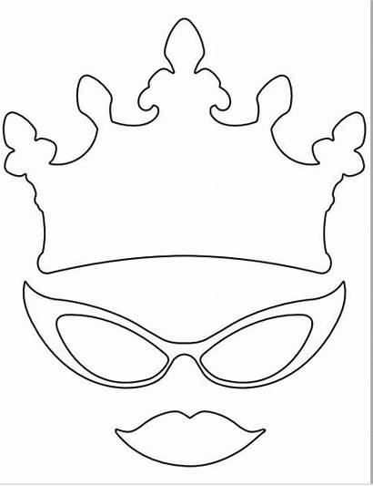 Booth Props Printable Crown Glasses Lips Clip