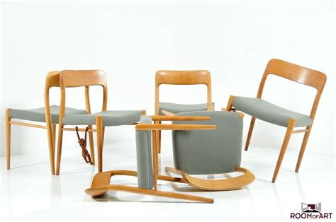 set of 6 dining chairs by niels o moller room of