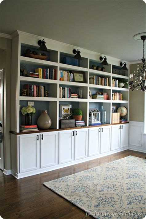 thrifty decor library amazing diy fireplace and built ins diy