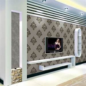 Promotion New 0.53*10m 3D Wallpaper Damascus Flower ...