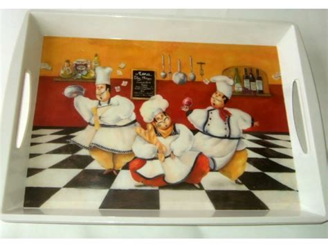 large fat italian chefs kitchen serving tray
