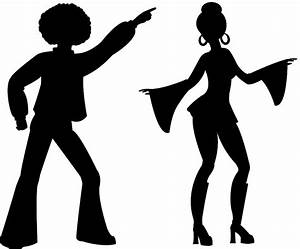 Disco Dancers Silhouette | Free vector silhouettes