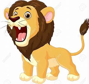 Animated roaring lion clipart