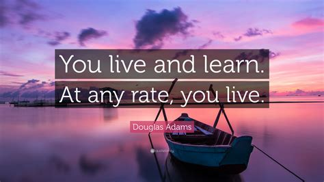 douglas adams quote    learn   rate