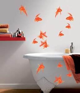 Décoration Murale Salle De Bain : d coration murale le papier peint dans la salle de bain ~ Teatrodelosmanantiales.com Idées de Décoration