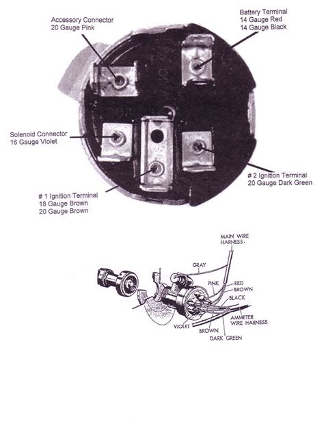 Chevy Truck Ignition Switch Wiring Diagram by Chevy Ignition Switch 1955 1956