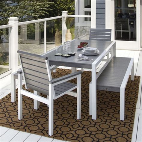 polywood 174 mod dining set with benches pw mod set2