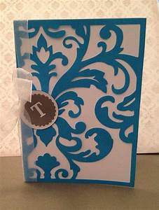 52 best cricut damask decor images on pinterest damask With sophisticated wedding invitation cricut