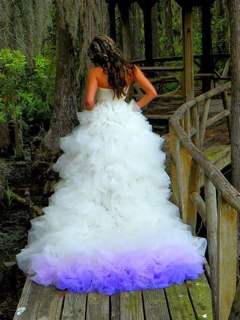 15 Dip Dyed Wedding Dress Ideas That Will Add A Burst Of