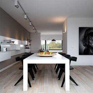 Furniture Modern Dining Room And Kitchen Decoration With