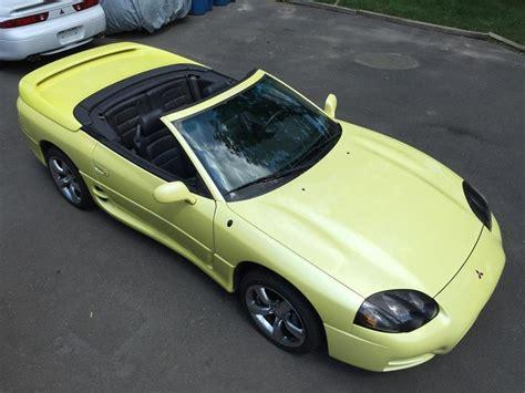 mitsubishi 3000gt yellow martinique yellow pearl 1995 mitsubishi 3000gt spyder vr4