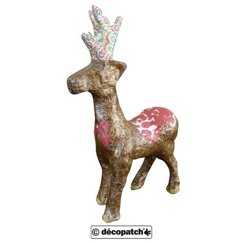 paper mache reindeer standing up n0735 decopatch and