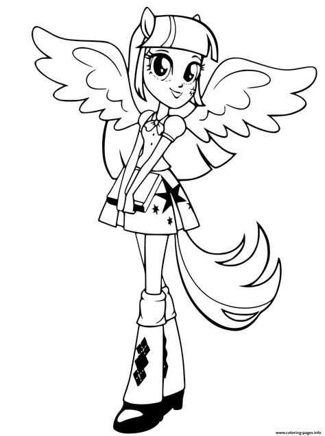 rarity twilight sparkle girl coloring pages printable