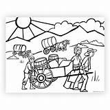 Coloring Pioneer Printable West Printables Template sketch template