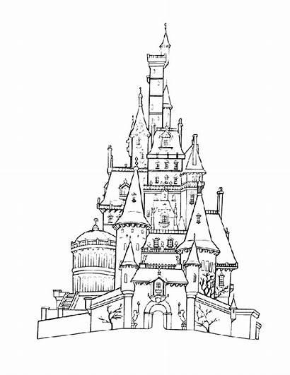 Castle Coloring Disney Pages Disneyland Drawing Printable