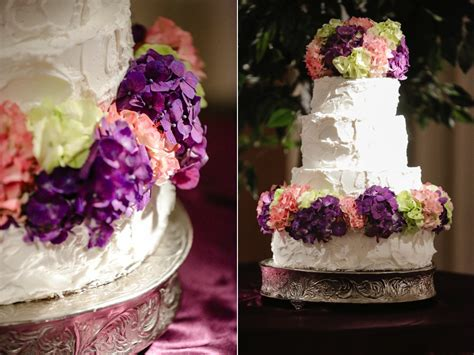 Pink Purple Lime Green Hydrangea Wedding Cake Flowers Utah
