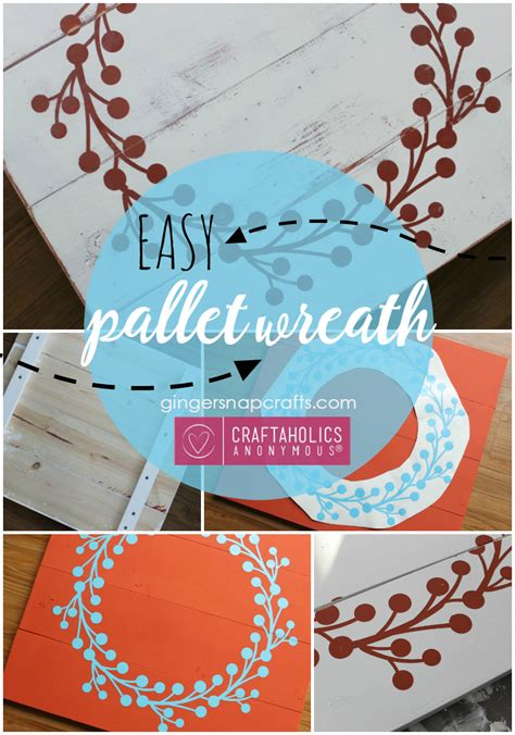 Craftaholics Anonymous®  Diy Pallet Wreath