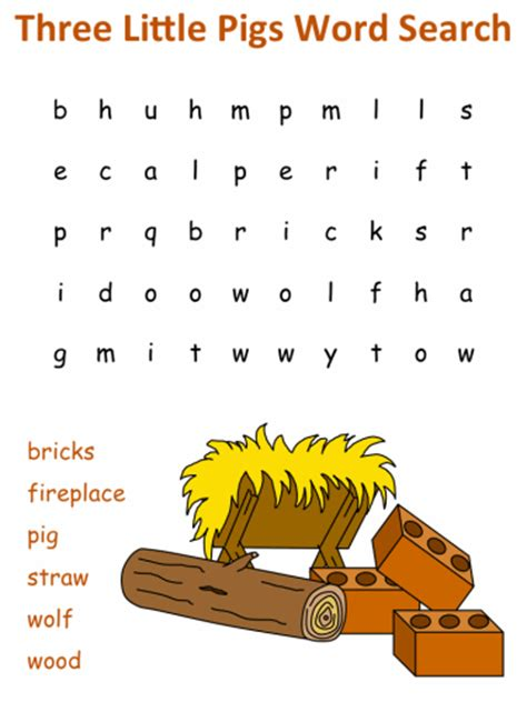 pigs word search puzzles