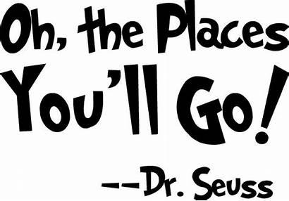 Seuss Places Oh Dr Ll Vinyl Decal