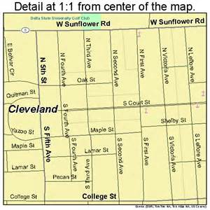 Street Map Cleveland MS