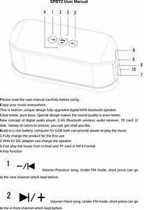 Sentry Spbt2 Bluetooth Speaker User Manual Spbt2 1