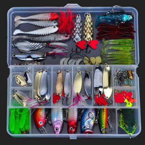 fishing lure kit metal lure soft bait plastic wobbler