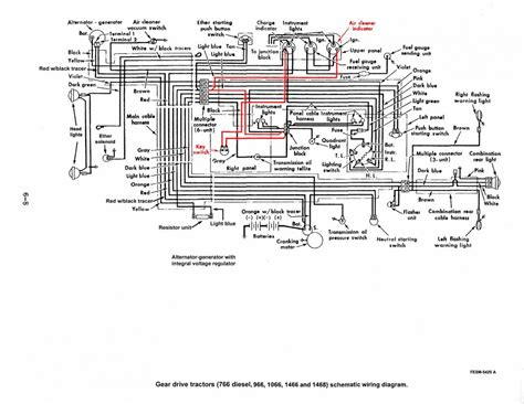 International Alternator Wiring Diagram by Back To The Wiring On The 1066 General Ih Power
