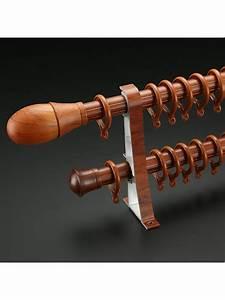 qyt2921 1 1 8quot wood grain double curtain rod set egg With double curtain rod wood