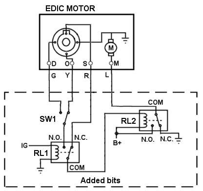 Phillip Wire Diagram by Wiring An Edic Motor And Relay