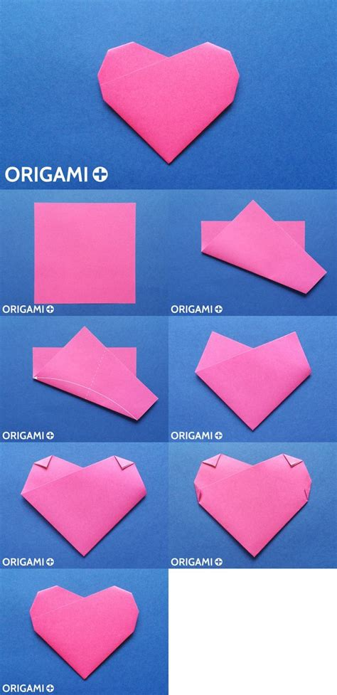 origami  fold heart create  beautiful paper heart