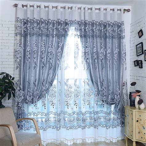 2015 grey luxury modern jacquard tulle sheer window