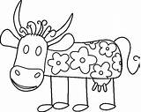 Coloring Cow sketch template