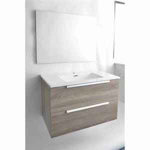 meuble de salle de bain joel bois meuble de salle de With meuble de salle de bain bricoman
