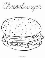 Coloring Cheeseburger Cursive Favorites Login sketch template