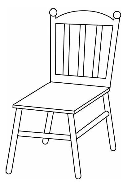 Chair Clip Line Outline Sweetclipart