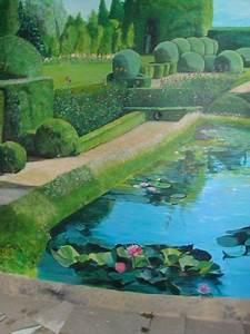 Mur Trompe L Oeil : trompe l oeil sur mur jardin peinture lynncha ~ Melissatoandfro.com Idées de Décoration