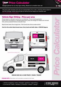 vehicle wrapping prices vehicle wrap price guide sign With truck lettering prices