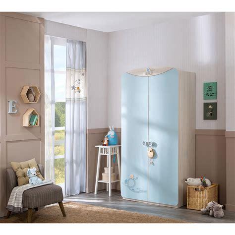 babykamer blauw gordijn jongenskamer kinderkamer