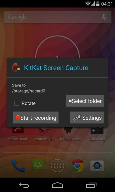 screen capture android how to screen record using the android 4 4 kitkat screen