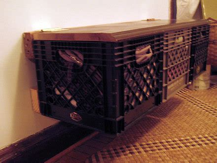 milkcrate digest crates   wall bench