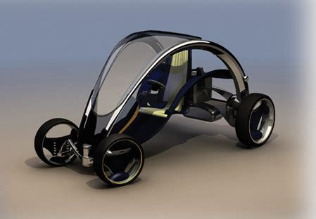 transportation design individual car concept with personality green design
