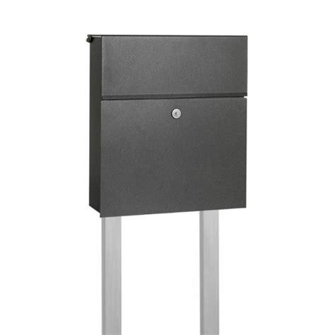 briefkasten anthrazit freistehend briefkasten freistehend anthrazit modern smartes wohnen